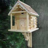 Home Bazaar Natural Cabin Bird House
