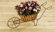 Deer Park Ironworks Solera Wheelbarrow Planter w/ Coco Liner
