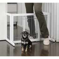 Richell Freestanding Pet Gate Small White