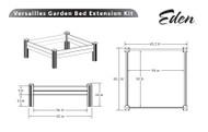 Eden Versailles Raised Garden Bed Extension