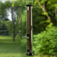 Droll Yankees Clever Clean Thistle Bird Feeder, Onyx 24""