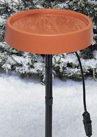 "Allied Precision Heated Birdbath 12"" with Metal Stand"