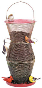 No No Red & Brass 3 Tier Super Cardinal Bird Feeder