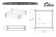 Eden Huntington Raised Planter Bed VA68225