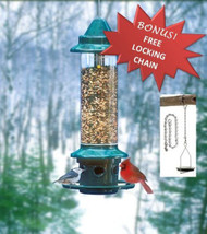 Brome Squirrel Buster Plus 1024 squirrel proof bird feedre plus free locking chain.Free Shipping.