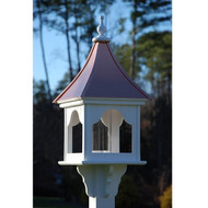 "Fancy Home Products Square Bird Feeder Bright Copper 14"" BF14-SQ-BC"