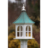 "Fancy Home Products Square Bird Feeder w/ Windows Patina Copper 12"" BF12-SQ-PC"