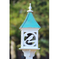 "Fancy Home Products Square Bird Feeder Patina Copper 12"" BF12-SQ-BIRD-PC"