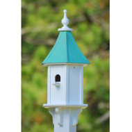 "Fancy Home Products Blue Bird House w/ Perch Patina Copper 10"" BH10-PC-PERCH"