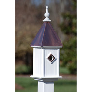 "Fancy Home Products Blue Bird House Bright Copper 8"" BH8-BC"