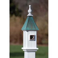 "Fancy Home Products Blue Bird House Patina Copper 6"" BH6-PC"