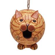 Bobbo Gord-O Cat Orange Ball Birdhouse BOBBO3880204