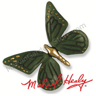 Michael Healy Monarch Butterfly Door Knocker in Brass/Green Patina MH1002