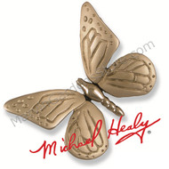 Michael Healy Monarch Butterfly Door Knocker in Nickel Silver MH1003