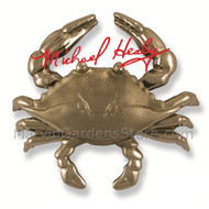 Michael Healy Blue Crab Door Knocker in Nickel Silver MH1153