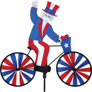 Premier WindGarden 20 inch Uncle Sam Bicycle Spinner