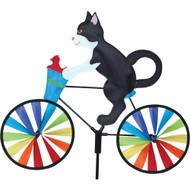 Premier WindGarden 20 inch Tuxedo Cat Bicycle Spinner