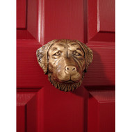 Michael Healy Golden Retriever Dog Door Knocker in Bronze MHDOG04