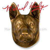 Michael Healy German Shepherd Dog Door Knocker in Bronze MHDOG05