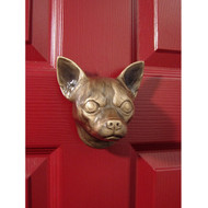 Michael Healy Chihuahua Dog Door Knocker in Bronze MHDOG10