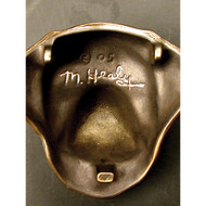 Michael Healy Schnauzer Dog Door Knocker in Bronze MHDOG11