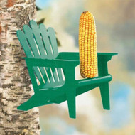 Hiatt Manufacturing Green Adirondack Chair Squirrel Feeder