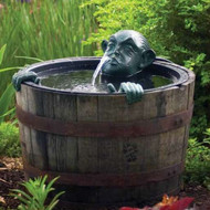 Aquascape Man in Barrel Spitter Fountain with Pump