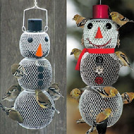 No No Mr. and Mrs. Snowman Bird Feeders