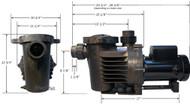 Performance Pro Artesian A 2 1/3 6300 GPH Low RPM Pond Pump A2 1/3 63 NO CORD