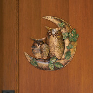 Ancient Graffiti Owl on Moon Wall Mount