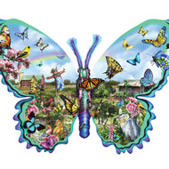 SunsOut Puzzle Butterfly Farm Shape