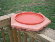Songbird Essentials Cedar Heated Deck BirdBath