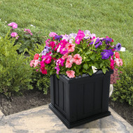 Mayne Cape Cod Patio Planter 14x14 Black
