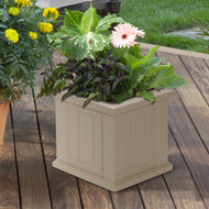 Mayne Cape Cod Patio Planter 14x14 Clay