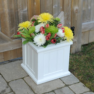 Mayne Cape Cod Patio Planter 14x14 White