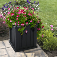 Mayne Cape Cod Patio Planter 16x16 Black