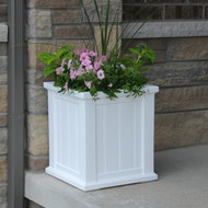 Mayne Cape Cod Patio Planter 16x16 White