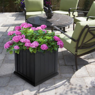 Mayne Cape Cod Patio Planter 20x20 Black