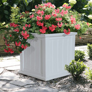 Mayne Cape Cod Patio Planter 20x20 White