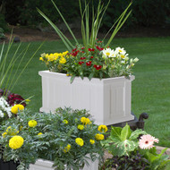 Mayne Cape Cod Patio Planter 24x11 White