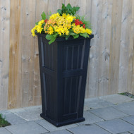 Mayne Cape Cod Tall Planter Black