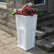 Mayne Cape Cod Tall Planter White