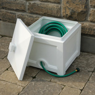 Mayne Fairfield Garden Hose Bin White