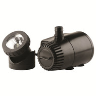 Pond Boss Fountain Pump Plus Light with Low Water Auto Shut-off Feature 419 gph