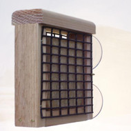 BIRDS CHOICE WINDOW-MOUNT SUET BIRD FEEDER
