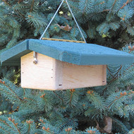 "Nature Products The Nuthatch Peanut Bird Feeder 2280 9""x10""x4"" Green Roof"