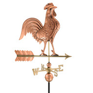"Good Directions 27"" Rooster Weathervane - Polished Copper 515P"