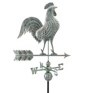 "Good Directions 27"" Rooster Weathervane - Blue Verde Copper 515V1"