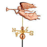 Good Directions Angel Weathervane - Polished Copper 630P