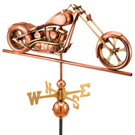 Good Directions Chopper Weathervane - Polished Copper 694P